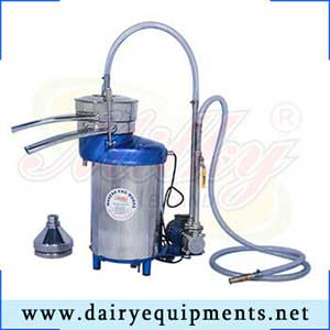 The milk separator is used for the skimming process and is based on the difference in density between the cream and the liquid phase of the milk.