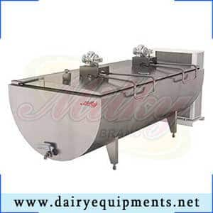 It is a large storage tank for cooling and holding milk at a cold temperature until it can be picked up by a milk hauler.