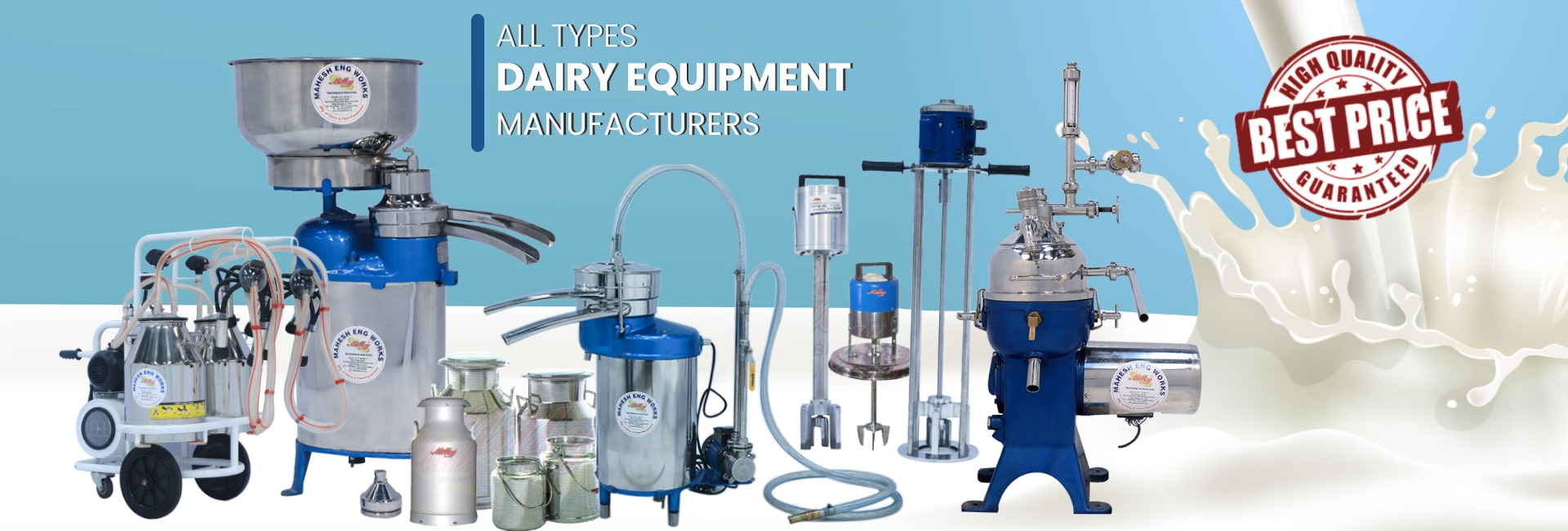 all types of dairy equipment manufacturer